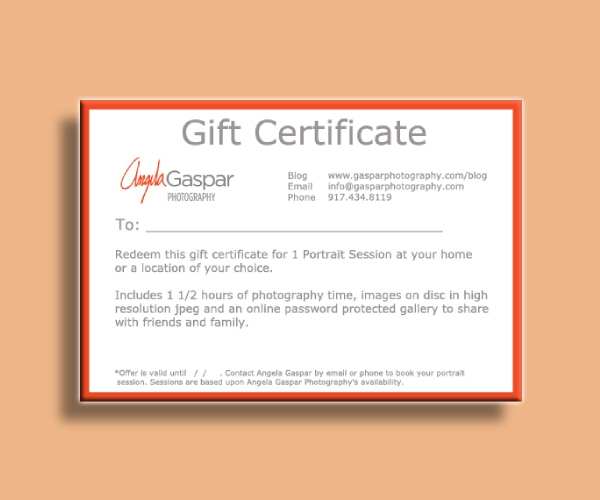 10+ Best Photography Gift Certificate Examples & Templates inside Fresh Photography Session Gift Certificate