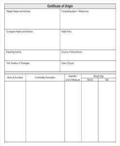 10+ Certificate Of Origin Templates | Word, Excel & Pdf intended for Certificate Of Origin Form Template