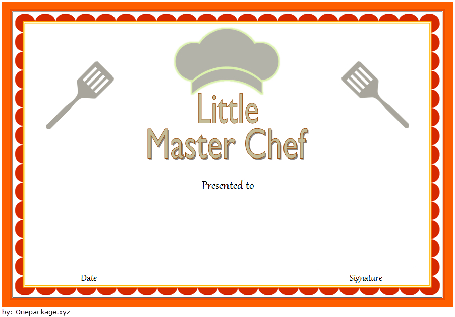 10+ Chef Certificate Templates Free Download intended for Chef Certificate Template Free Download 2020