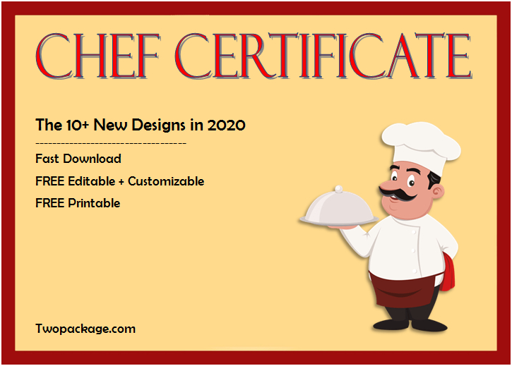 10+ Chef Certificate Templates Free Download regarding Best Chef Certificate Template Free Download 2020