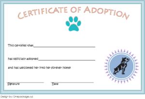 10+ Dog Adoption Certificate Free Printable Designs Inside Fresh Rabbit Adoption Certificate Template 6 Ideas Free