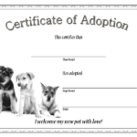 10+ Dog Adoption Certificate Free Printable Designs Intended For Rabbit Adoption Certificate Template 6 Ideas Free