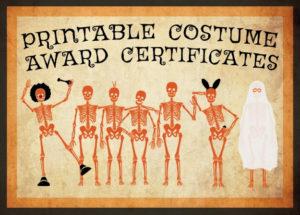 10 Free Costume Award Certificates! [Printables with regard to Halloween Costume Certificates 7 Ideas Free