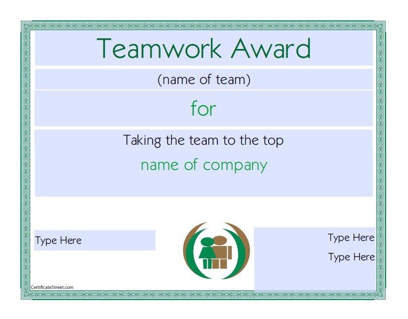 10 Free Efficiency Award Certificate Templates - Ms Office Guru with Free Teamwork Certificate Templates