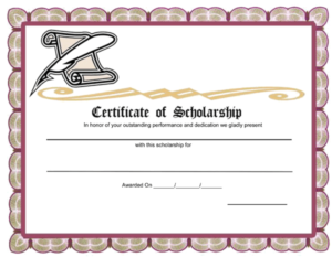 10+ Free Scholarship Award Certificate Templates (Word | Pdf) for Best 10 Scholarship Award Certificate Editable Templates
