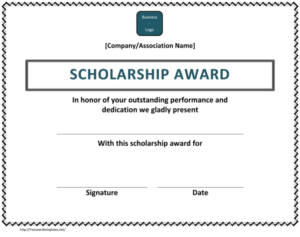 10+ Free Scholarship Award Certificate Templates (Word | Pdf) within Best 10 Scholarship Award Certificate Editable Templates