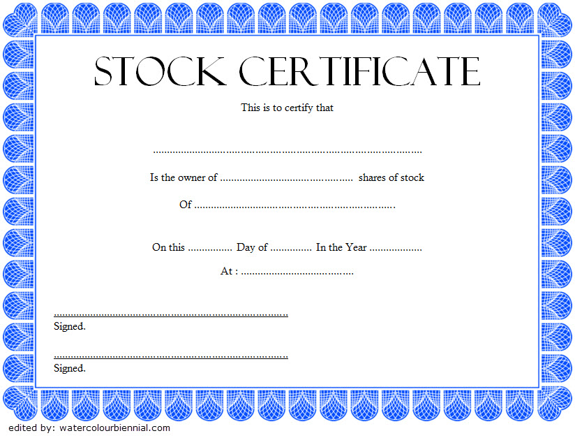 10+ Free Stock Certificate Template Microsoft Word Ideas pertaining to Unique Free 10 Certificate Of Stock Template Ideas