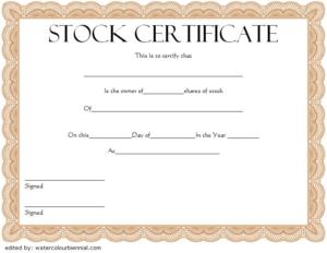 10+ Free Stock Certificate Template Microsoft Word Ideas regarding Free 10 Certificate Of Stock Template Ideas