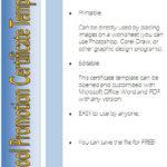 10+ Fresh Certificate Of School Promotion Template Ideas With Unique Certificate Of School Promotion 10 Template Ideas
