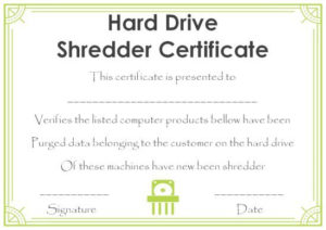 10+ Hard Drive Certificate Of Destruction Templates: Useful regarding Hard Drive Destruction Certificate Template