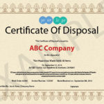 10 Items That Should Be Included In A Certificate Of Pertaining To Fresh Certificate Of Disposal Template