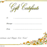 10+ Merry Christmas Gift Certificate Template Free Ideas For Happy New Year Certificate Template Free 2019 Ideas