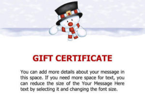 10 Printable Free Christmas Gift Certificates | Hloom inside Free Christmas Gift Certificate Templates