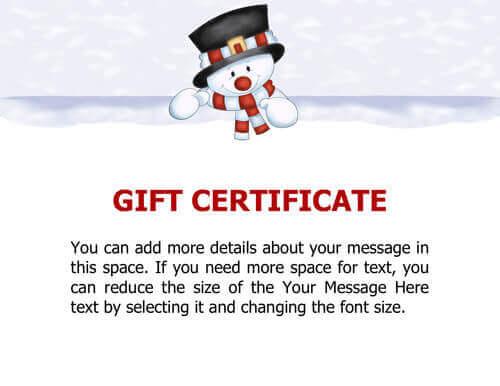 10 Printable Free Christmas Gift Certificates | Hloom inside Free Christmas Gift Certificate Templates