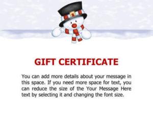 10 Printable Free Christmas Gift Certificates | Hloom intended for Homemade Christmas Gift Certificates Templates