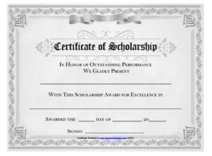 10+ Scholarship Award Certificate Examples – Pdf, Psd, Ai inside Best 10 Scholarship Award Certificate Editable Templates