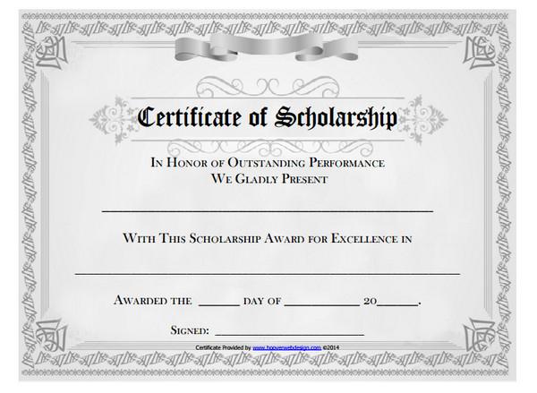 10+ Scholarship Award Certificate Examples - Pdf, Psd, Ai inside Best 10 Scholarship Award Certificate Editable Templates