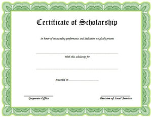10+ Scholarship Award Certificate Examples – Pdf, Psd, Ai intended for Best 10 Scholarship Award Certificate Editable Templates