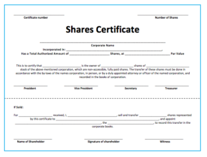10+ Share Certificate Templates | Word, Excel & Pdf in Fresh Template For Share Certificate