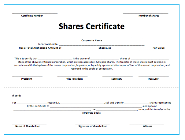 10+ Share Certificate Templates | Word, Excel & Pdf with Template Of Share Certificate