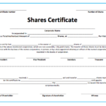 10+ Share Certificate Templates | Word, Excel & Pdf Within Fresh Corporate Share Certificate Template