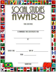 10+ Social Studies Certificate Templates Free Download within Editable Certificate Social Studies