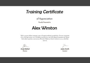 10+ Training Certificate Template Psd Free Download regarding Unique Dog Training Certificate Template Free 10 Best