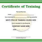 10+ Training Certificate Templates | Free Printable Word For Quality Template For Training Certificate