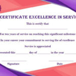 10 Years Service Award Certificate: 10 Templates To Honor For Best Drama Certificate Template Free 10 Fresh Concepts