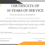 10 Years Service Award Certificate: 10 Templates To Honor with regard to Fresh Certificate For Years Of Service Template