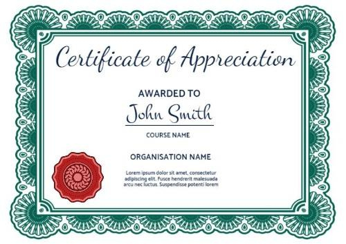 100+ Certificate Of Appreciation Templates To Choose From pertaining to Best Formal Certificate Of Appreciation Template