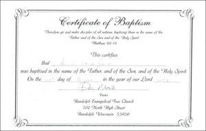 100+ Certificate Templates Ideas | Certificate Templates with Unique Baptism Certificate Template Word 9 Fresh Ideas