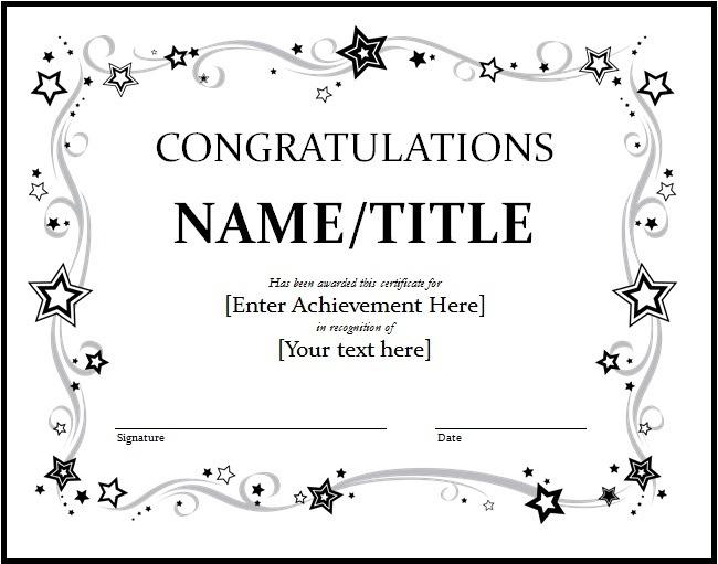 11+ Congratulation Certificate Templates | Free Word & Pdf in Congratulations Certificate Templates