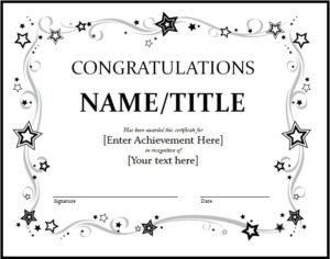 11+ Congratulation Certificate Templates | Free Word & Pdf with regard to Fresh Congratulations Certificate Template