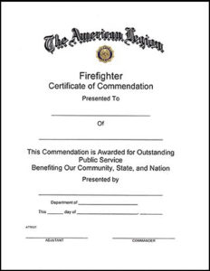 11+ Firefighter Certificate Templates | Free Printable Word for Unique Firefighter Certificate Template