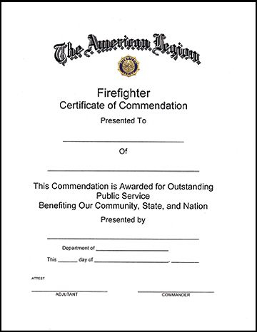 11+ Firefighter Certificate Templates | Free Printable Word intended for Firefighter Training Certificate Template