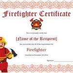 11+ Firefighter Certificate Templates | Free Printable Word regarding Best Firefighter Training Certificate Template
