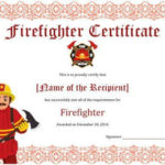 11+ Firefighter Certificate Templates | Free Printable Word throughout Firefighter Certificate Template