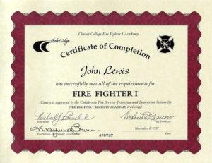 11+ Firefighter Certificate Templates | Free Printable Word throughout Fresh Firefighter Certificate Template Ideas