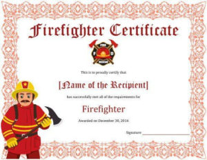 11+ Firefighter Certificate Templates | Free Printable Word with regard to Bravery Certificate Template 10 Funny Ideas