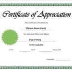 11 Free Appreciation Certificate Templates – Word Templates Pertaining To In Appreciation Certificate Templates