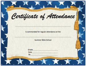 11 Free Perfect Attendance Certificate Templates – Microsoft regarding Attendance Certificate Template Word