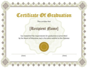 11 Free Printable Degree Certificates Templates | Hloom inside Fresh Doctorate Certificate Template