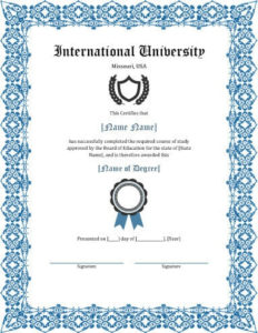 11 Free Printable Degree Certificates Templates | Hloom throughout Fake Diploma Certificate Template