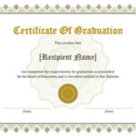 11 Free Printable Degree Certificates Templates | Hloom Within Best University Graduation Certificate Template