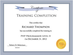 11 Free Sample Training Certificate Templates – Printable pertaining to Quality Training Certificate Template Word Format