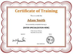 11 Free Sample Training Certificate Templates – Printable regarding Template For Training Certificate