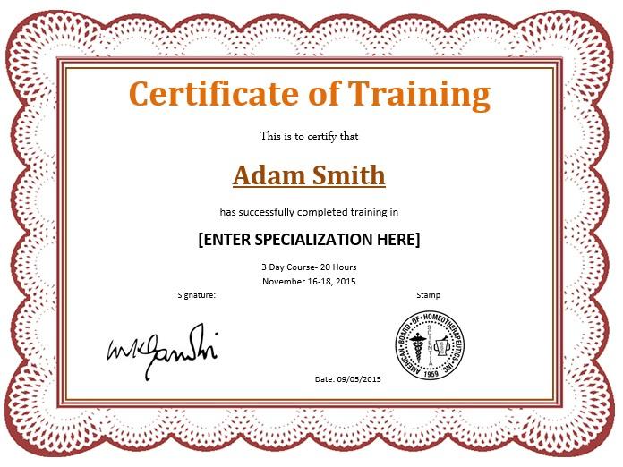 11 Free Sample Training Certificate Templates - Printable regarding Template For Training Certificate