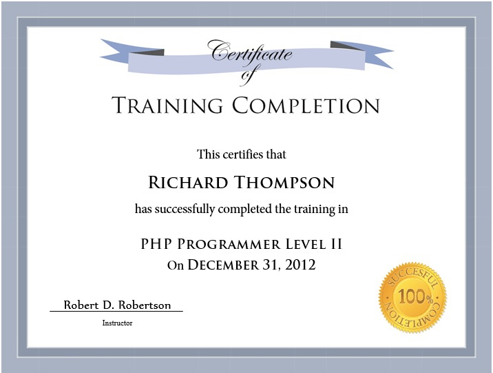 11 Free Sample Training Certificate Templates - Printable throughout Template For Training Certificate