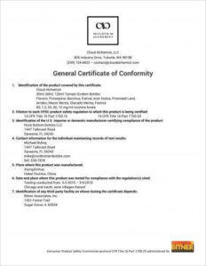 11+ General Certificate Of Conformity Examples – Pdf, Word throughout Conformity Certificate Template